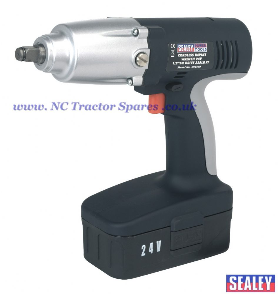 "Cordless Impact Wrench 24V 1/2""Sq Drive 325lb.ft"
